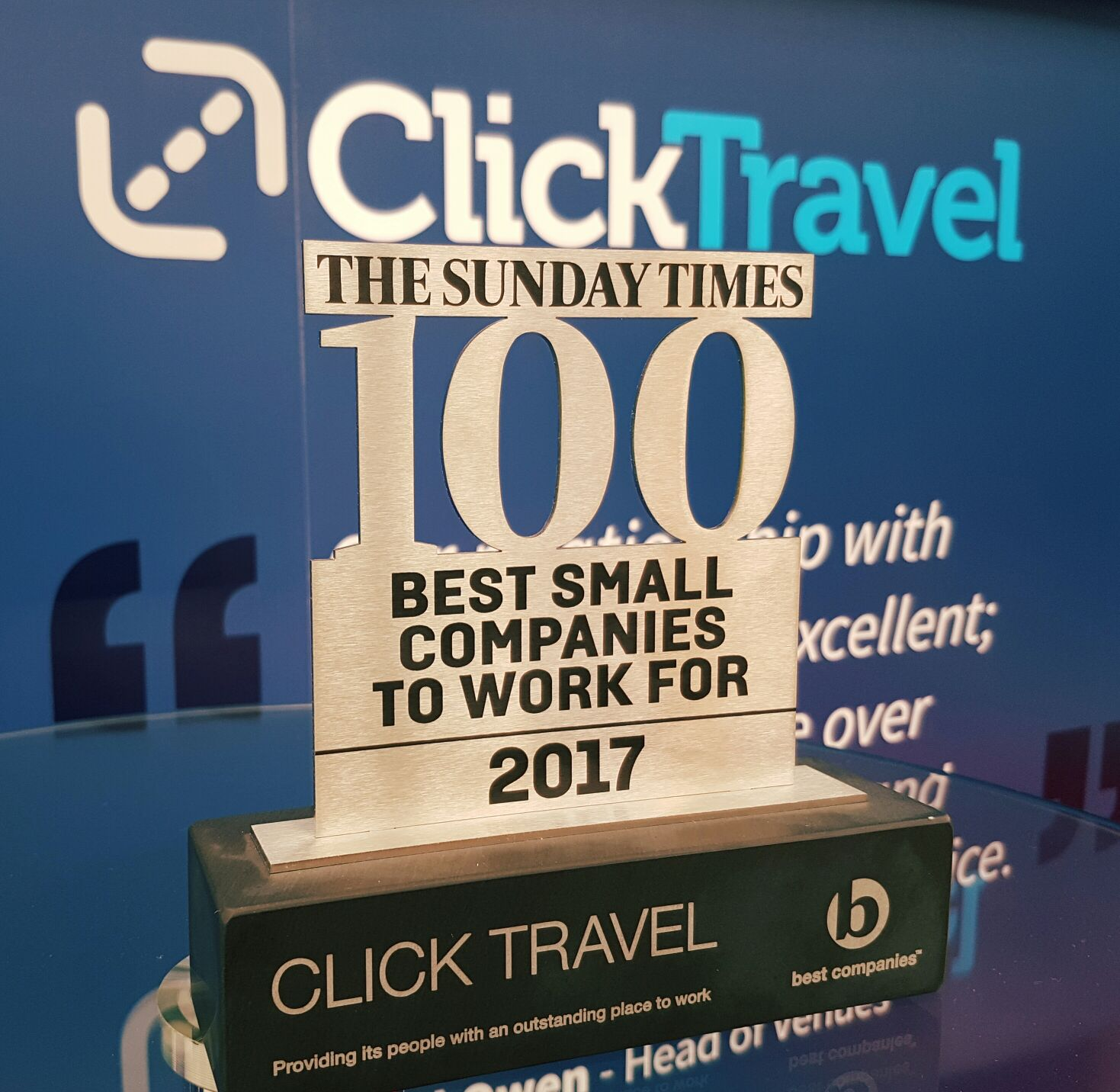 Click Travel one of the 100 Best Small Companies to Work For for the 4th consecutive year!