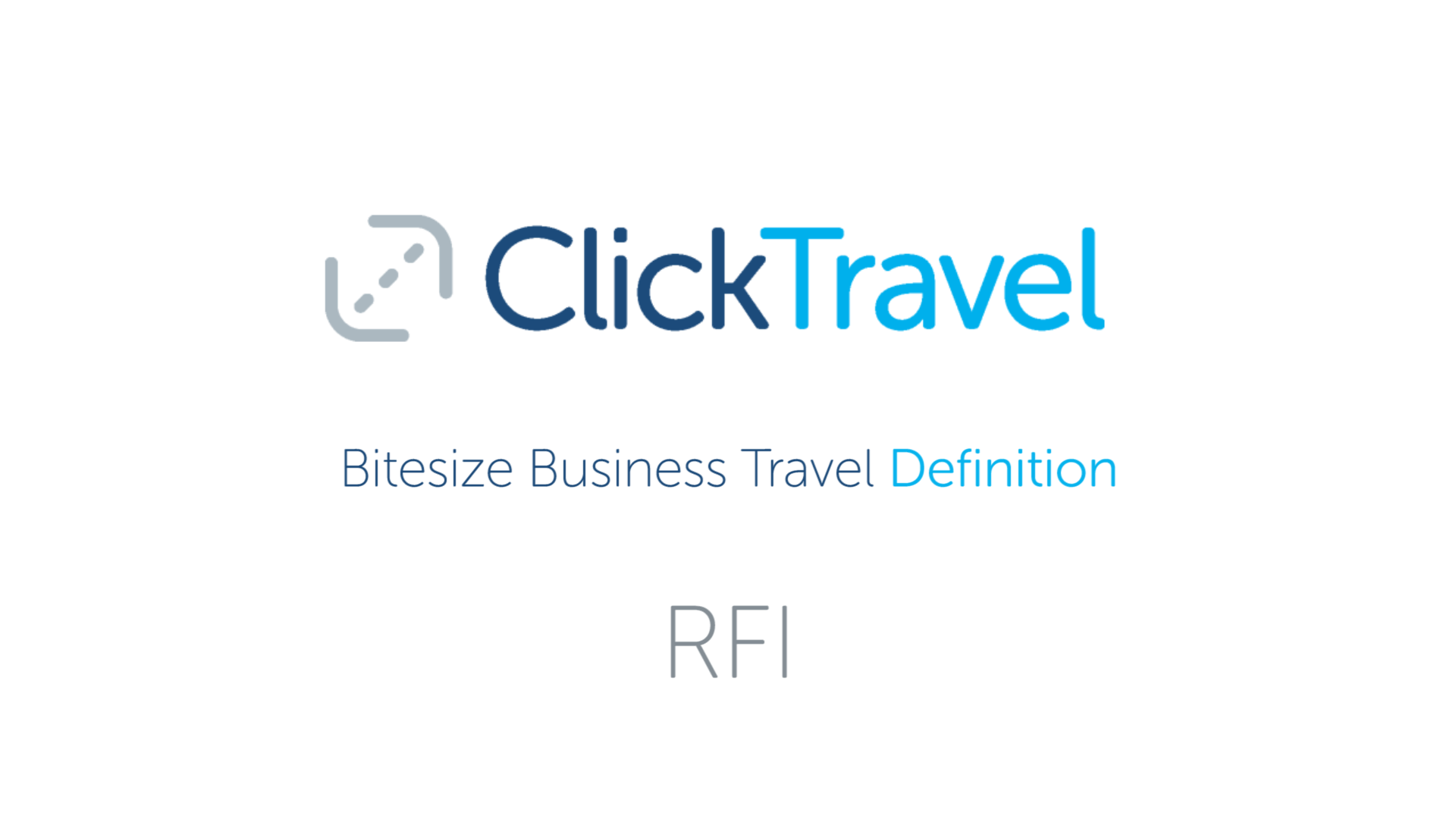 [VIDEO] Bitesize Business Travel Definition : RFI