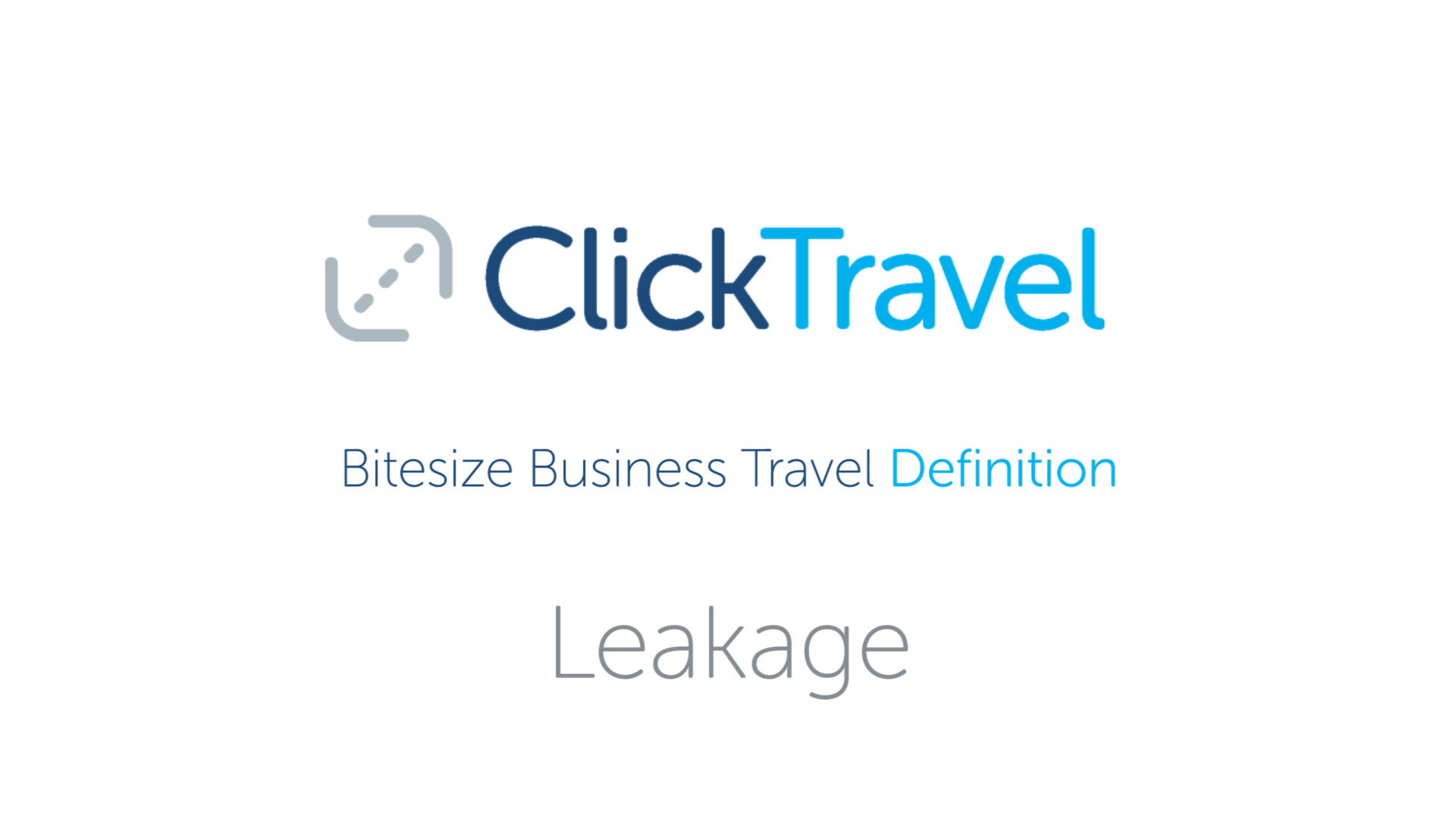 [VIDEO] Bitesize Business Travel Definition : Leakage