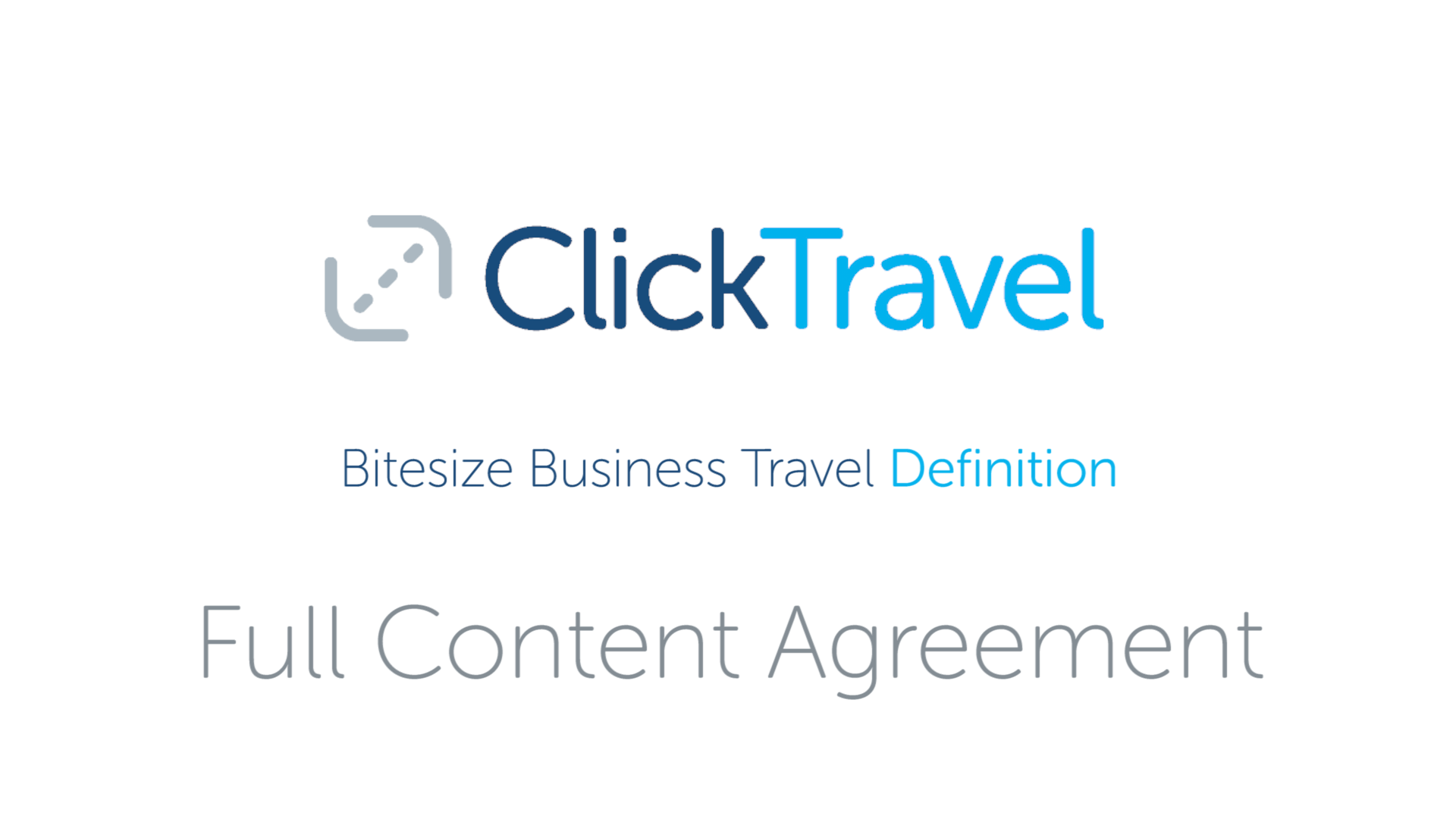 [VIDEO] Bitesize business travel definition: full content agreement