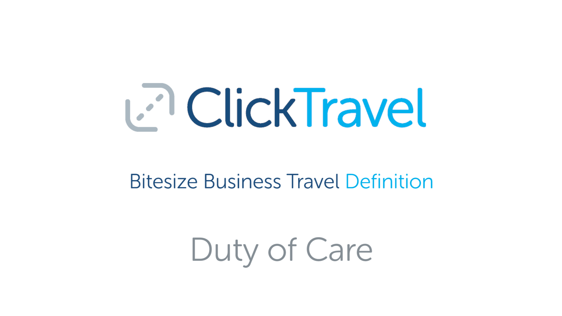 [VIDEO] Bitesize Business Travel Definition : Duty of care