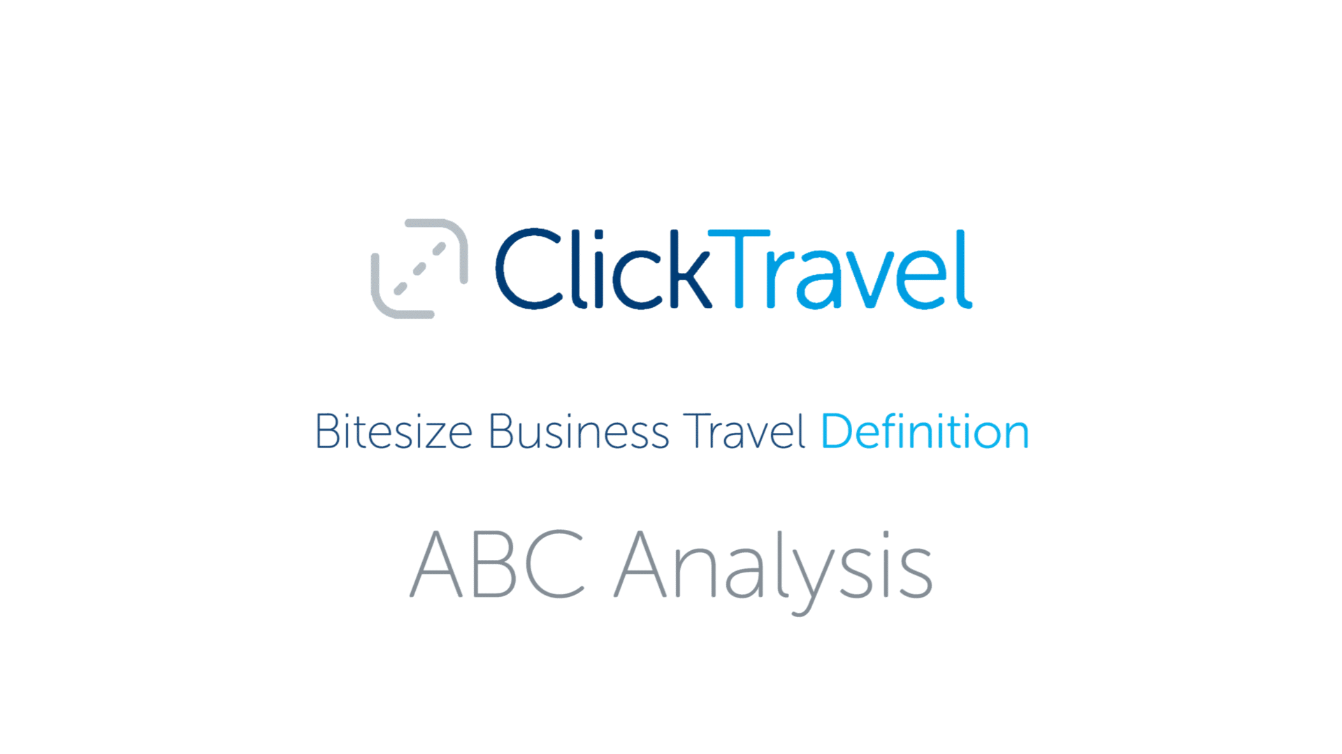 [VIDEO] Bitesize Business Travel Definition: ABC analysis