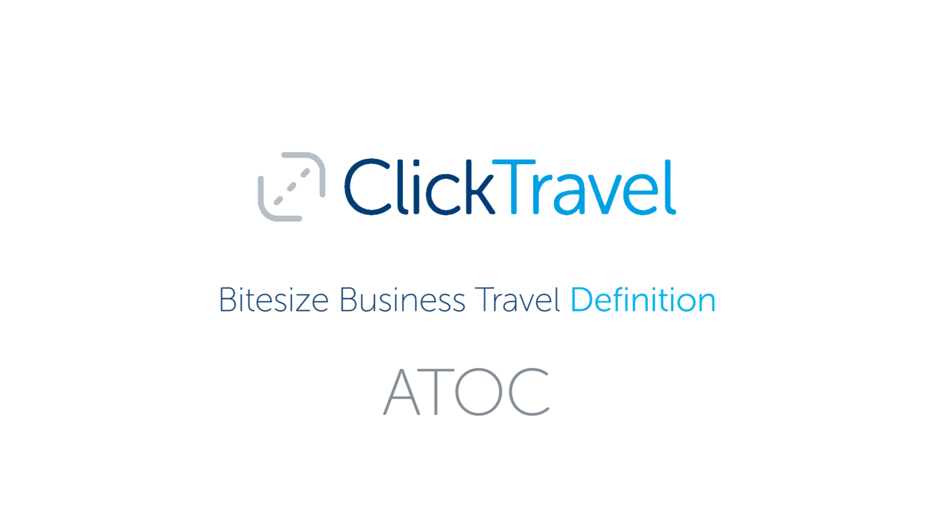 [VIDEO] Bitesize Business Travel Definition: ATOC