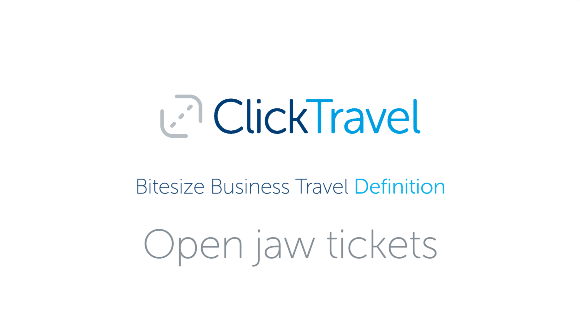 [VIDEO] Bitesize Business Travel Definition: Open jaw tickets