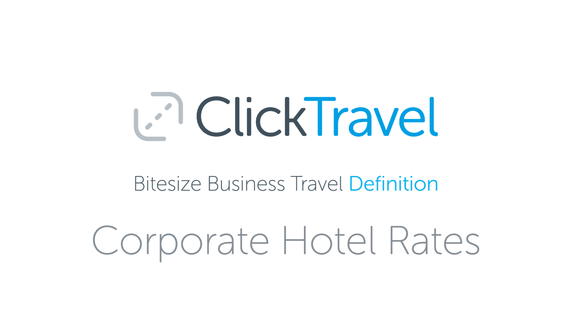 [VIDEO] Bitesize Business Travel Definition: Corporate hotel rates