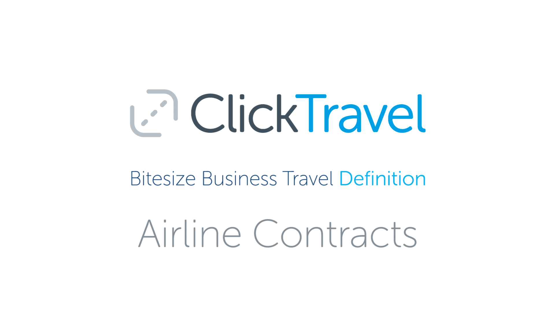 [VIDEO] Bitesize Business Travel Definition: Airline Contracts