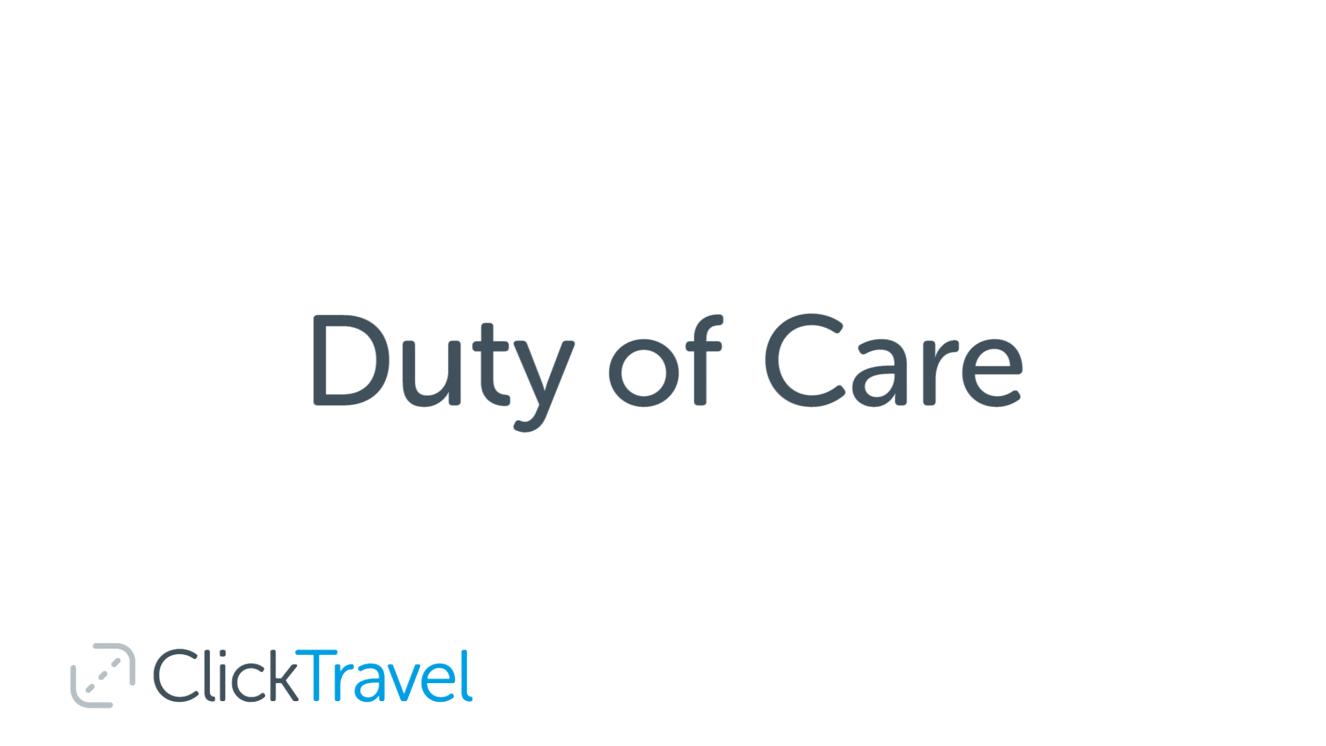 [VIDEO] What does duty of care mean and why is it important?