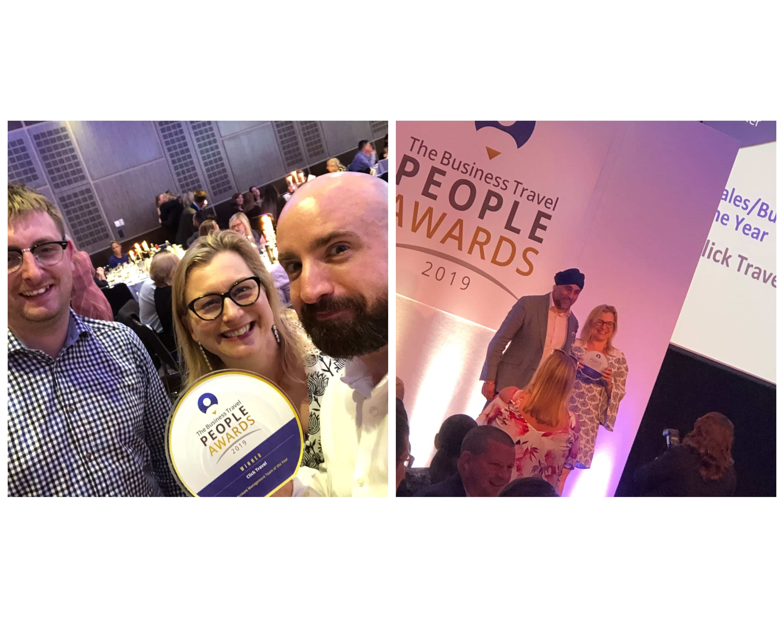 Double success for Click Travel at the Business Travel People Awards